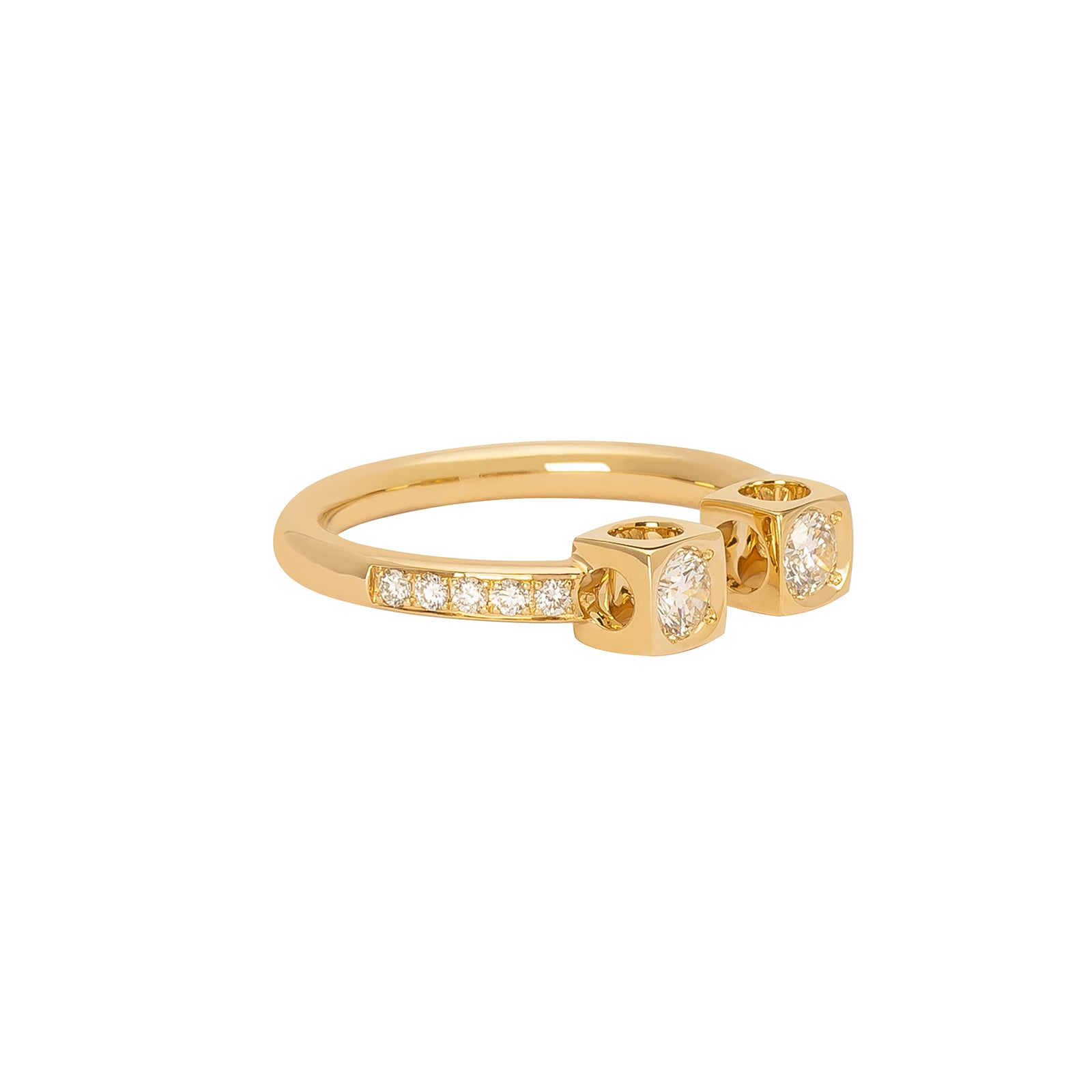 Dinh Van Le Cube Diamant Large Ring - Yellow Gold - Rings - Broken English Jewelry