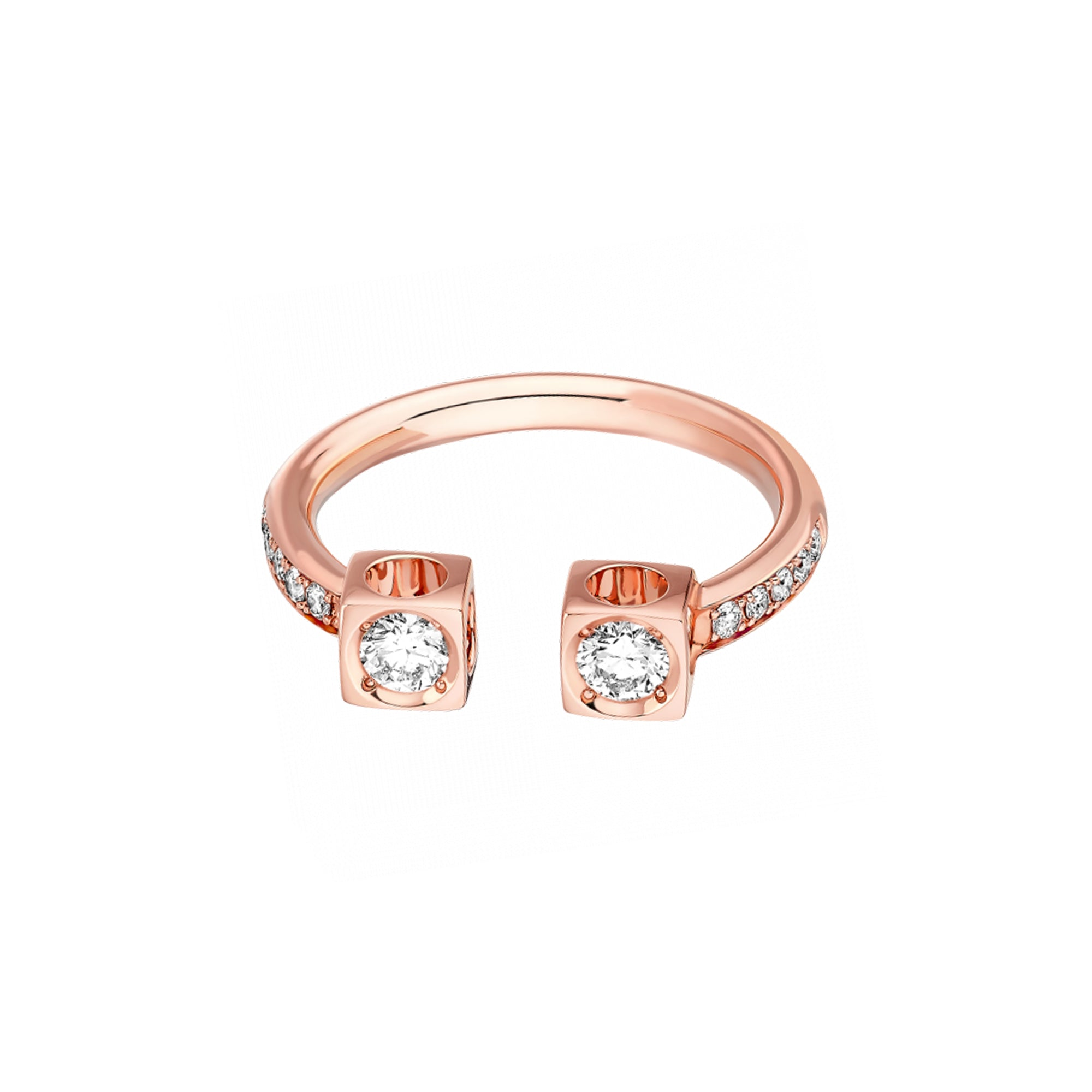 Dinh Van Le Cube Diamant Large Ring - Rose Gold - Rings - Broken English Jewelry