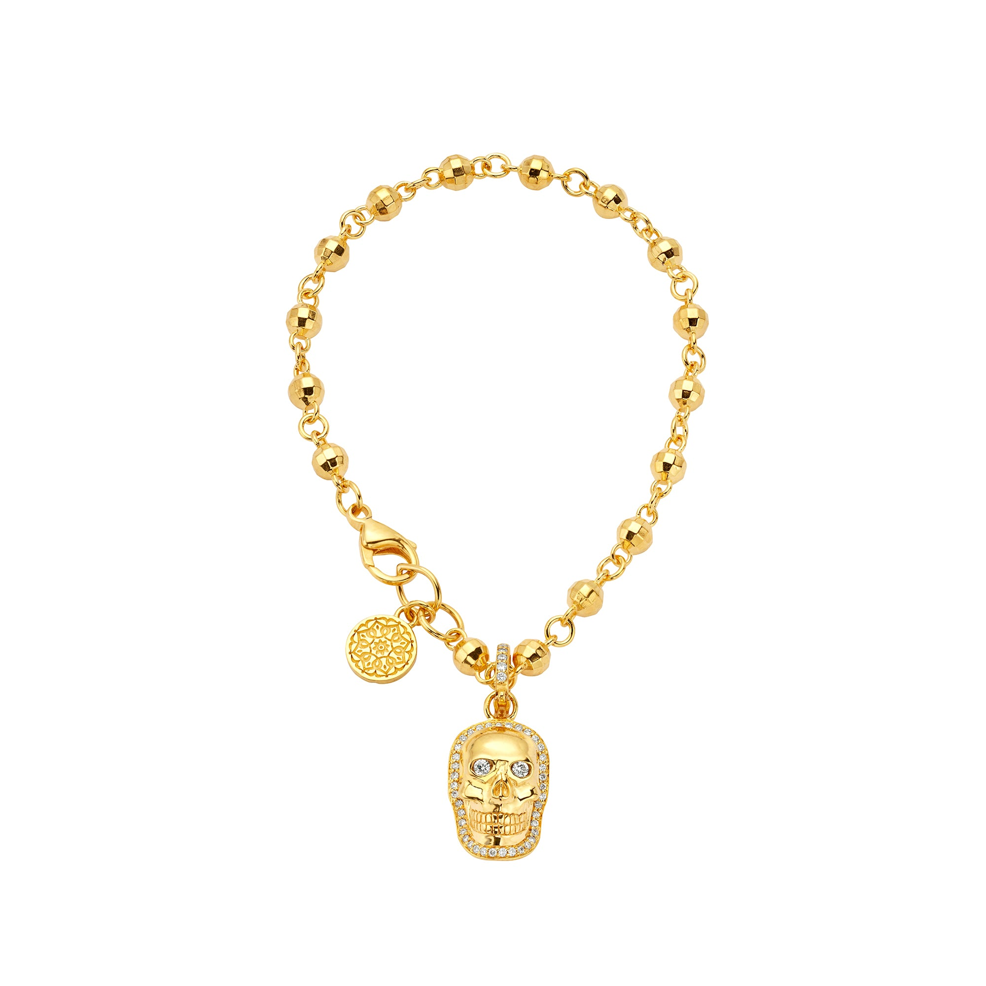Small Diamond Skull Pendant - Buddha Mama - Charms & Pendants | Broken English Jewelry