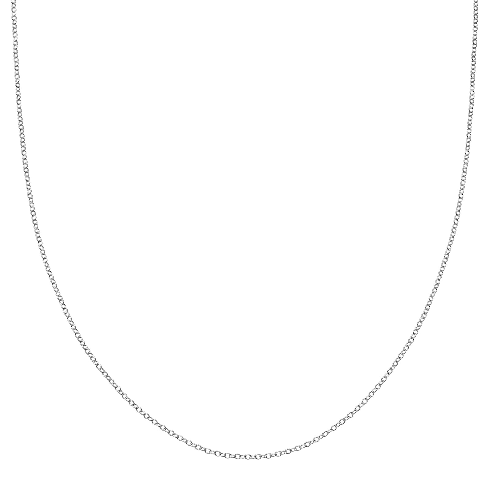 "Loquet 18"" Chain - White Gold - Necklaces - Broken English Jewelry"