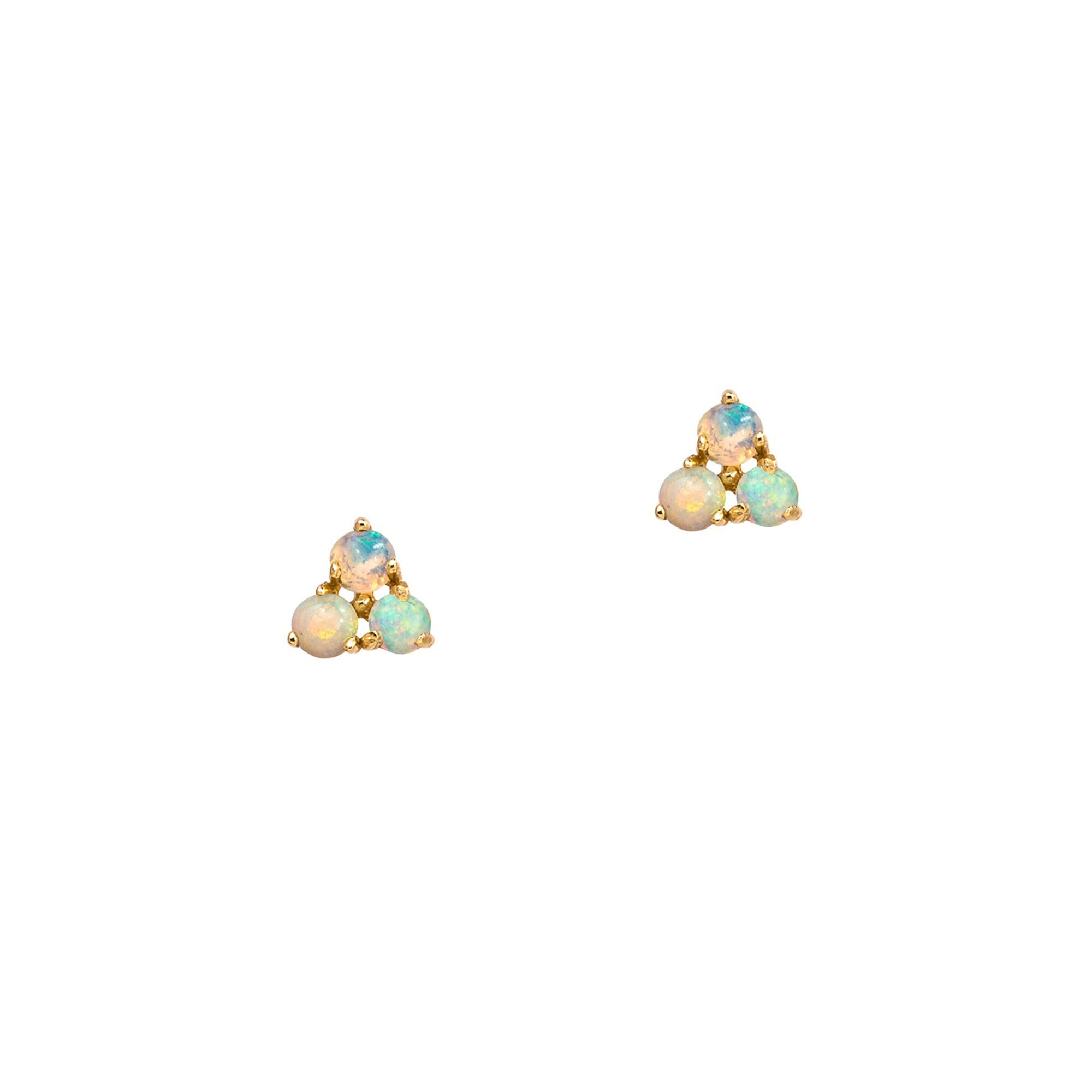 WWAKE Tri-Opal Studs - Earrings - Broken English Jewelry