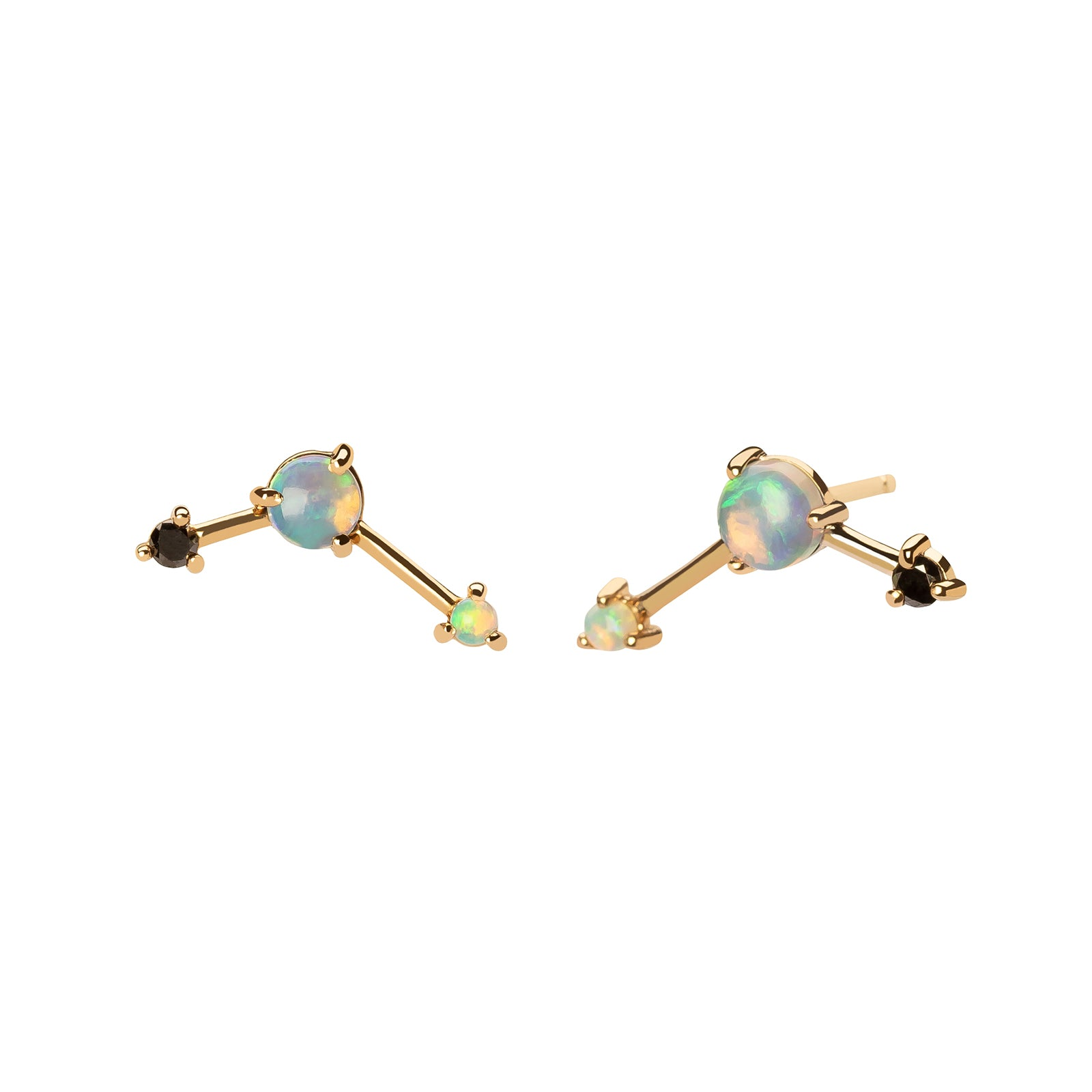 WWAKE Three-Step Balloon Earring - Opal - Earrings - Broken English Jewelry
