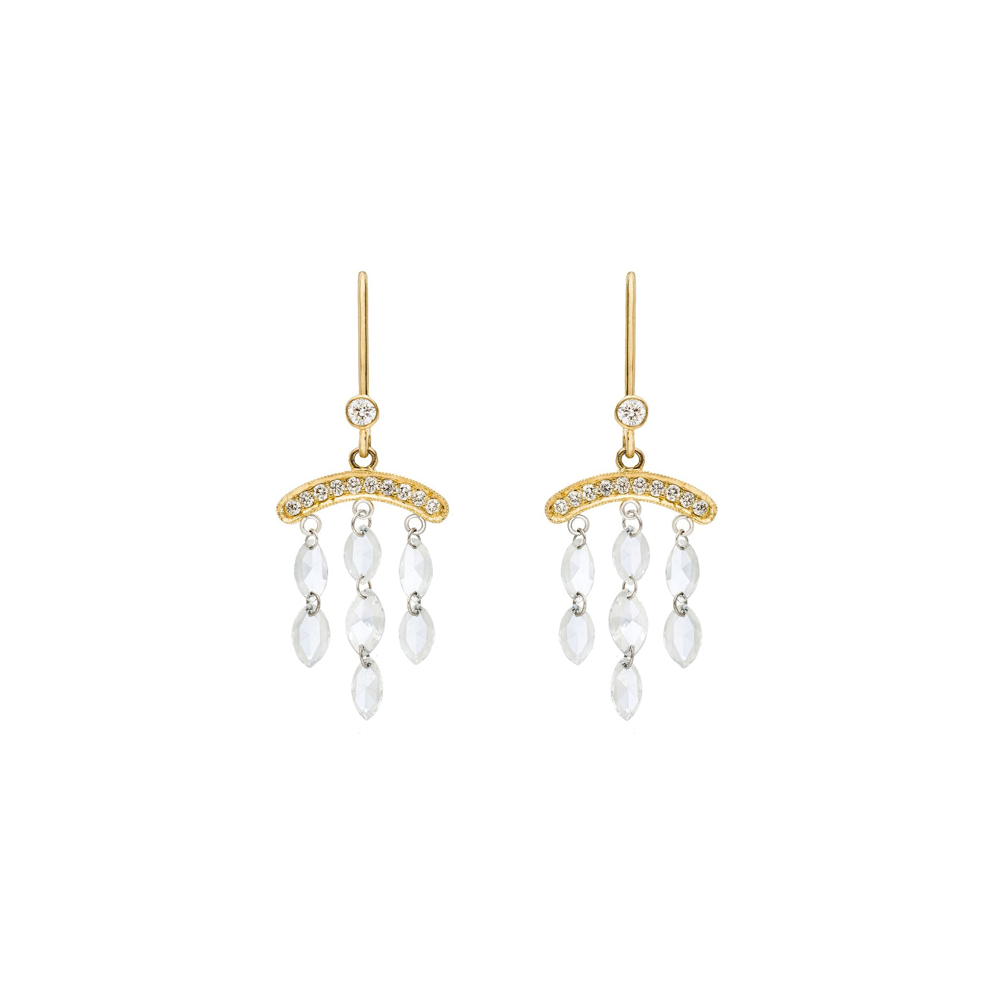 Sethi Couture The Cien Drop Earrings - Gold - Earrings - Broken English Jewelry