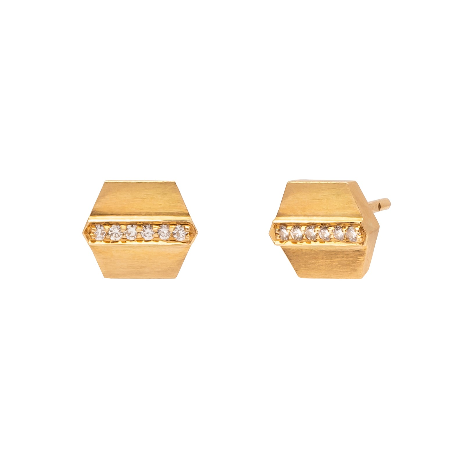 Sethi Couture Maya Stud Earrings - Gold - Earrings - Broken English Jewelry