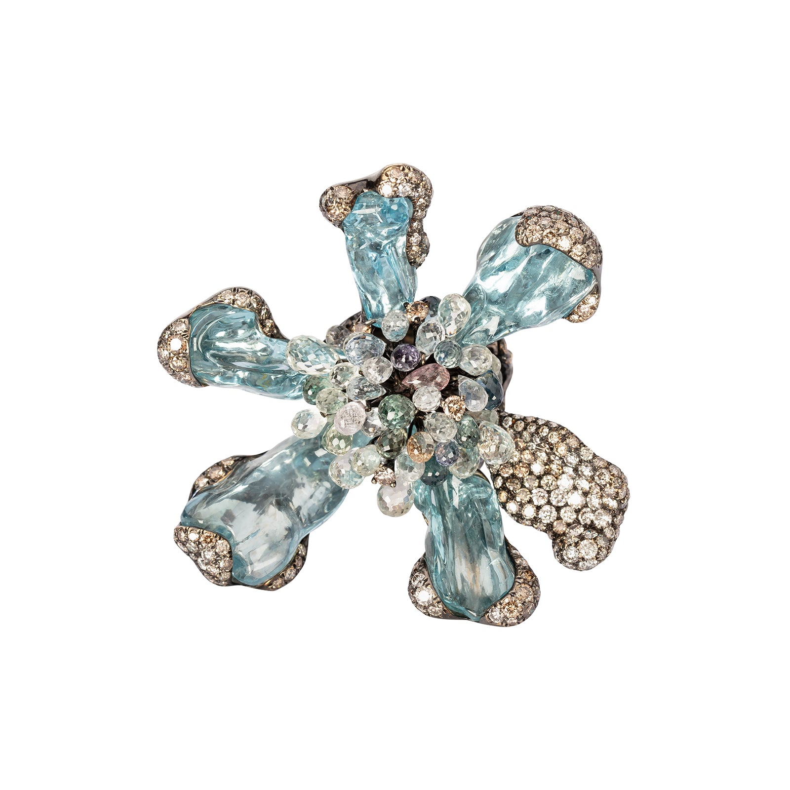 Arunashi Wild Orchid Ring - Aquamarine - Rings - Broken English Jewelry