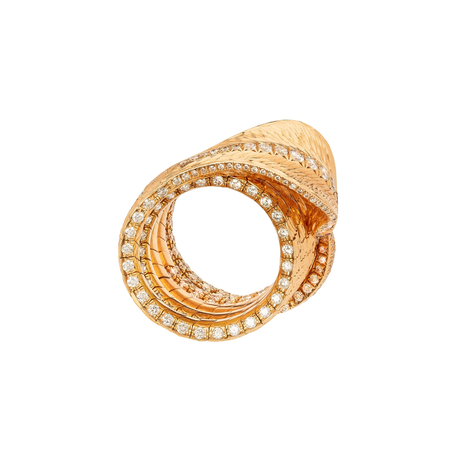 Arunashi Cobra Ring - White Diamond - Rings - Broken English Jewelry