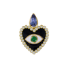 Holly Dyment Heart Enamel Evil Eye Pendant - Charms & Pendants - Broken English Jewelry