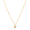 Jennie Kwon Baguette Half Moon Necklace - Gold - Necklaces - Broken English Jewelry