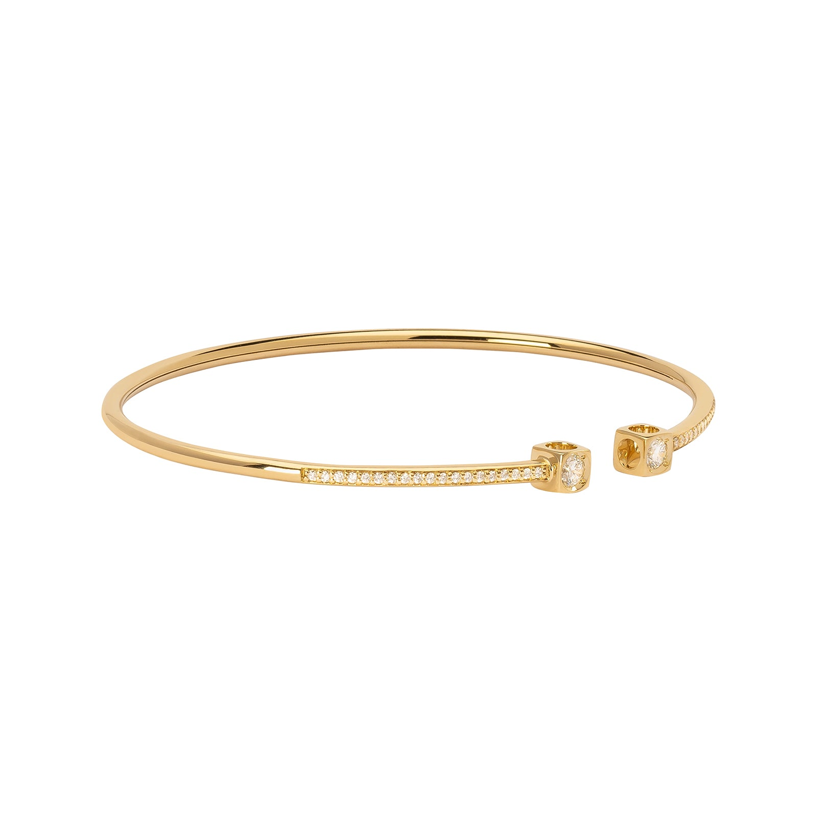 Dinh Van Le Cube Diamant Medium Bracelet - Yellow Gold - Bracelets - Broken English Jewelry