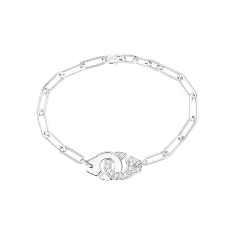 Menottes R12 White Gold Bracelet  - Dinh Van - Bracelets | Broken English Jewelry