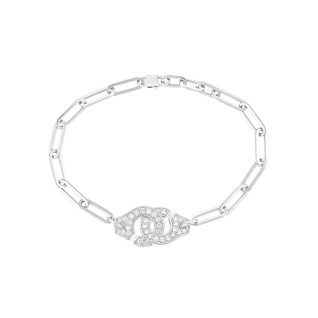 Menottes R12 Double Diamond Cuff Bracelet  - Dinh Van - Bracelets | Broken English Jewelry
