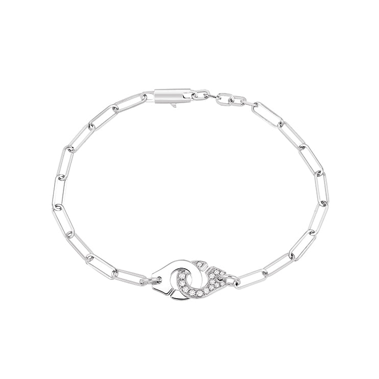 Menottes R10 White Gold Diamond Bracelet  - Dinh Van - Bracelets | Broken English Jewelry