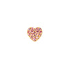 Loquet Pink Sapphire Heart Charm - Charms & Pendants - Broken English Jewelry