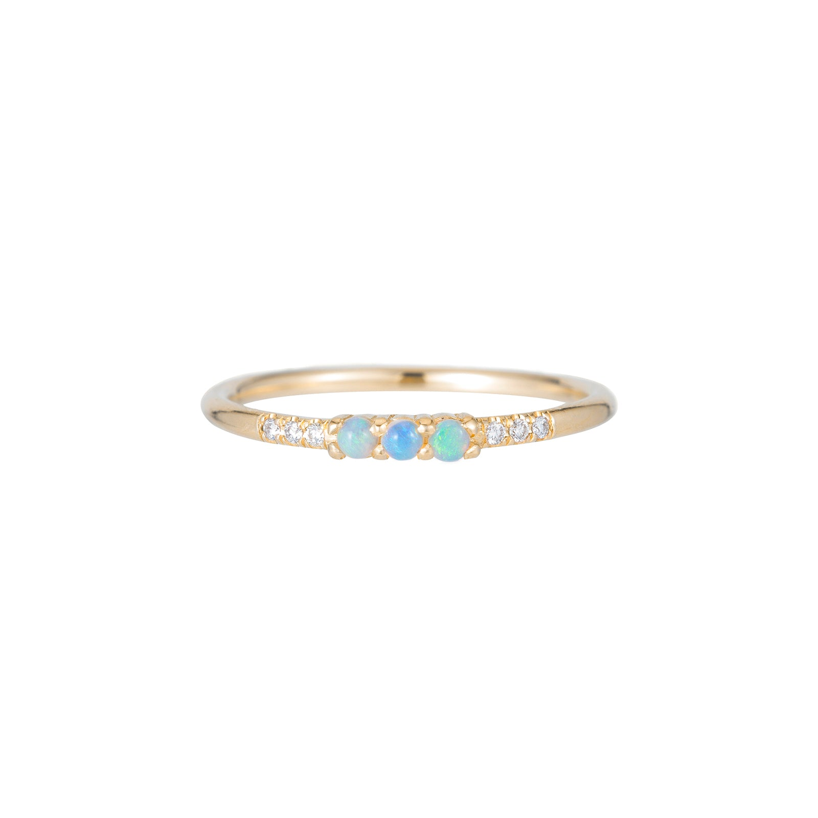 Jennie Kwon Equilibrium Trio Ring - Opal - Rings - Broken English Jewelry