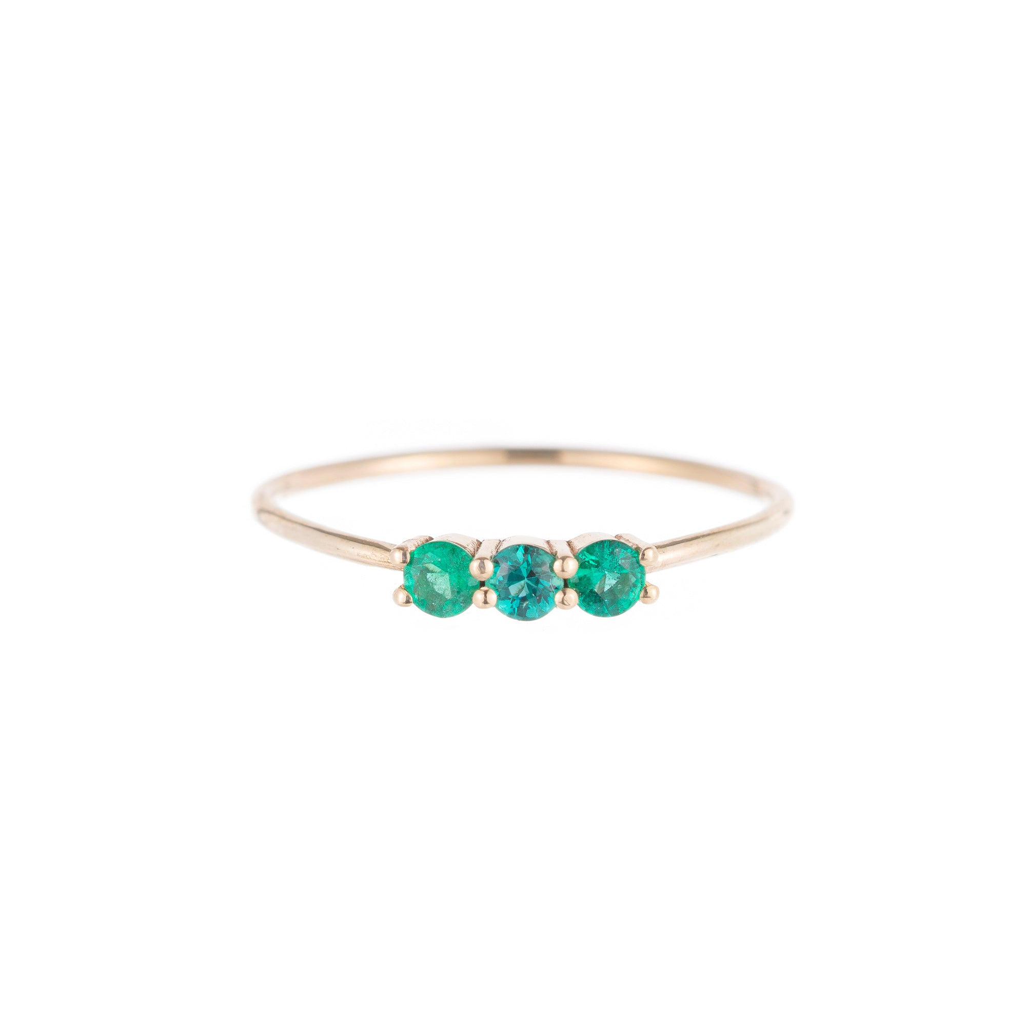 3S Emerald Ring - Jennie Kwon - Rings | Broken English Jewelry