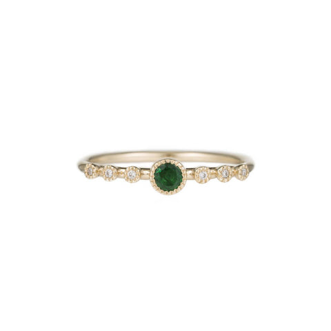Round Emerald Dew Ring - Jennie Kwon - Rings | Broken English Jewelry