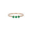 Emerald Harmony Ring - Jennie Kwon - Rings | Broken English Jewelry