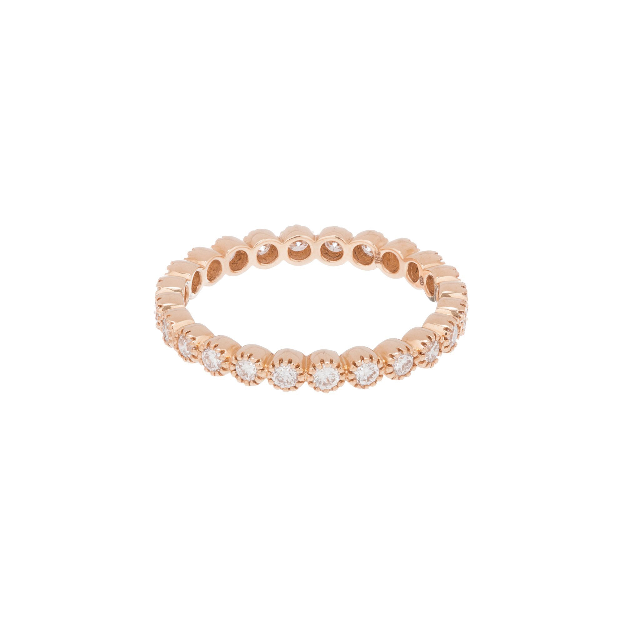 Sethi Couture Rose Gold Bezel Band - Rings - Broken English Jewelry