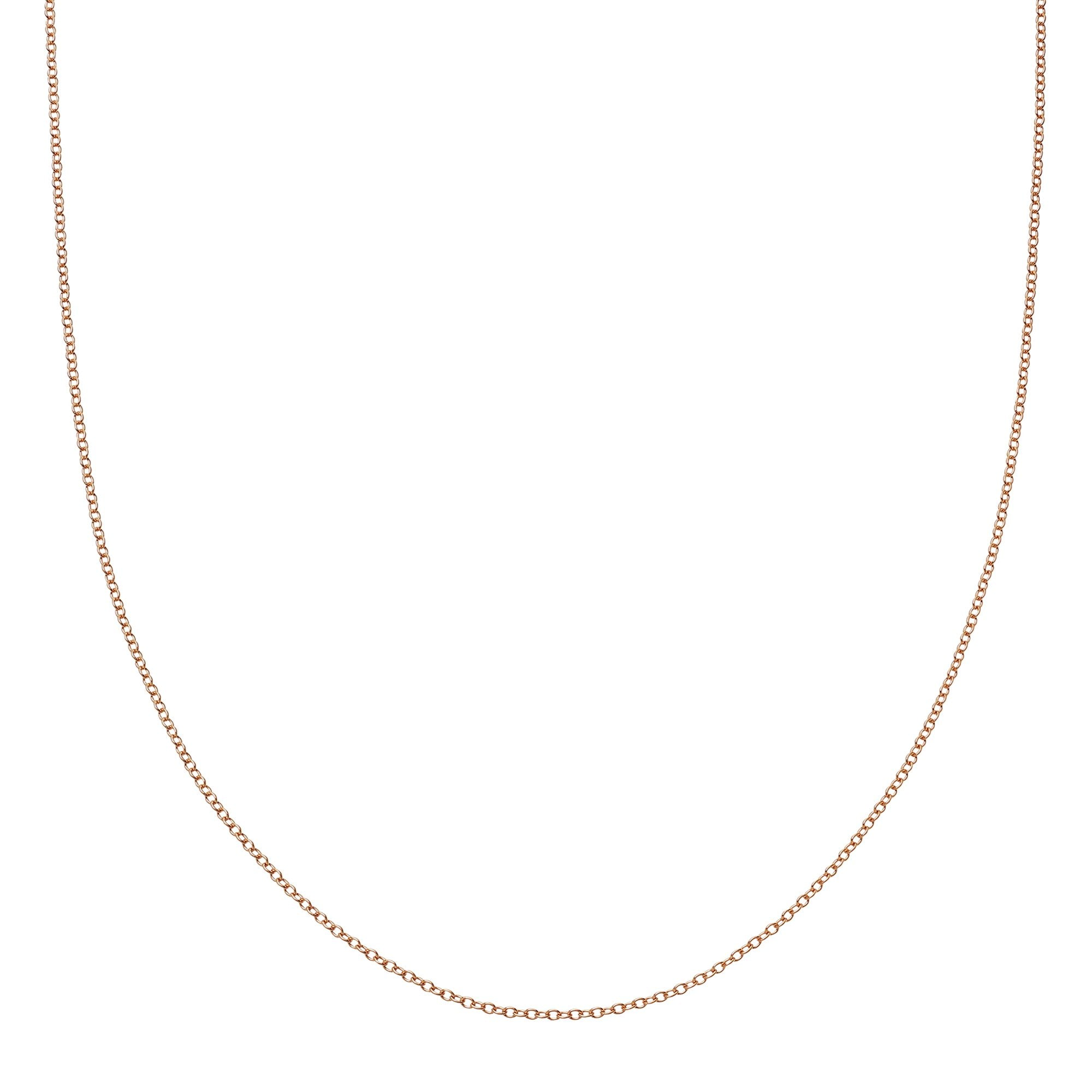 "Loquet 32"" Chain - Rose Gold - Necklaces - Broken English Jewelry"