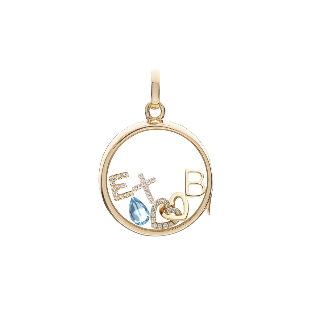 Loquet Christian Cross Charm - Charms & Pendants - Broken English Jewelry