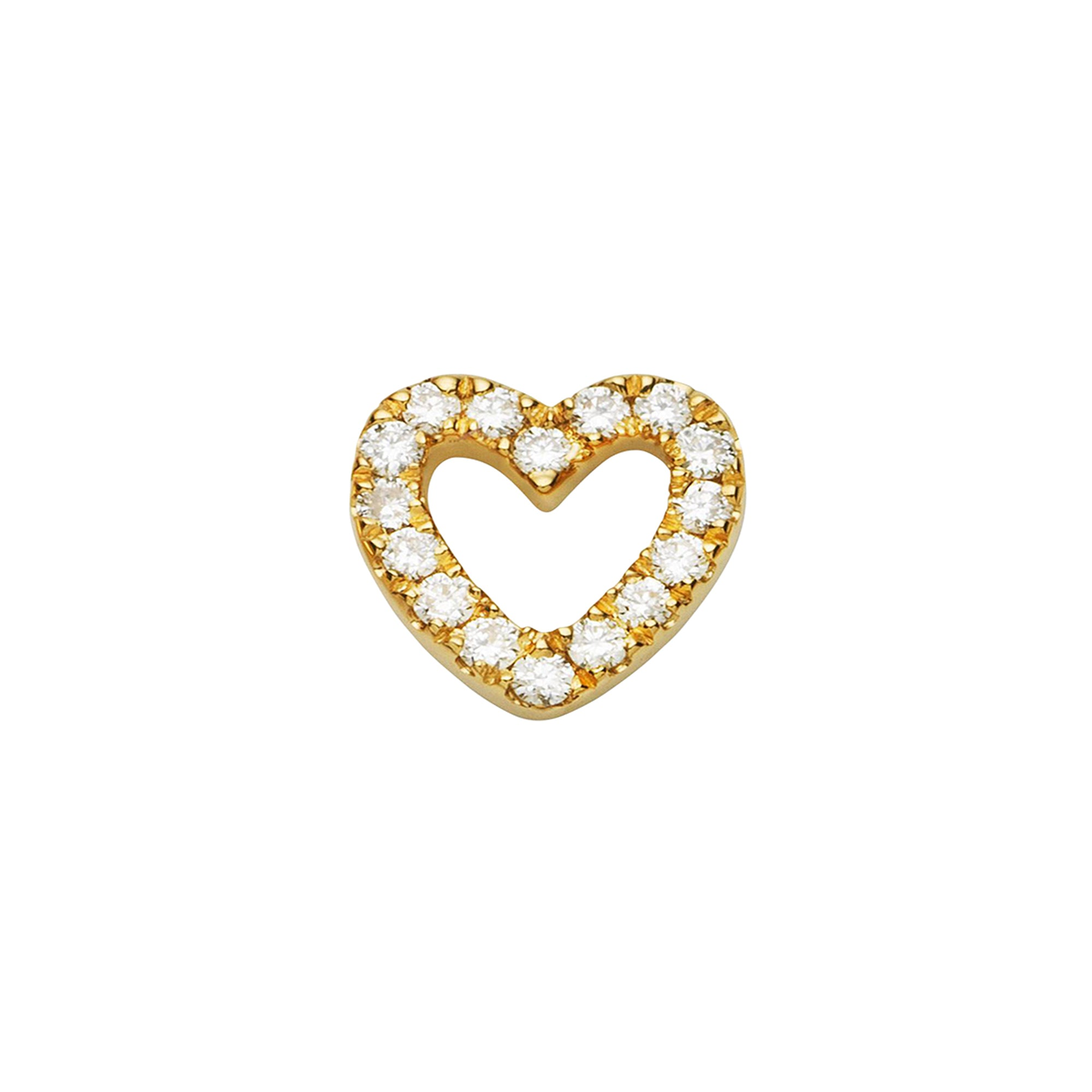 Loquet Diamond Heart Stud - Earrings - Broken English Jewelry