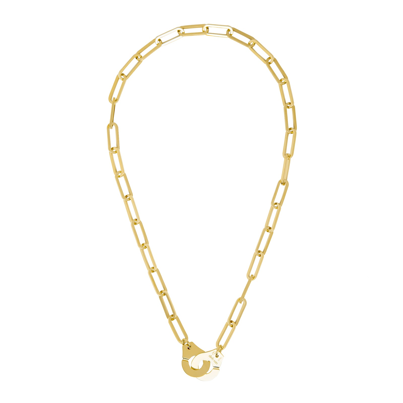 Menottes R15 Mixed Link Necklace - Dinh Van - Necklaces | Broken English Jewelry