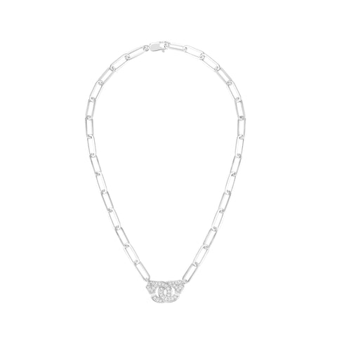 Menottes R15 White Gold Diamond Necklace - Dinh Van - Necklaces | Broken English Jewelry