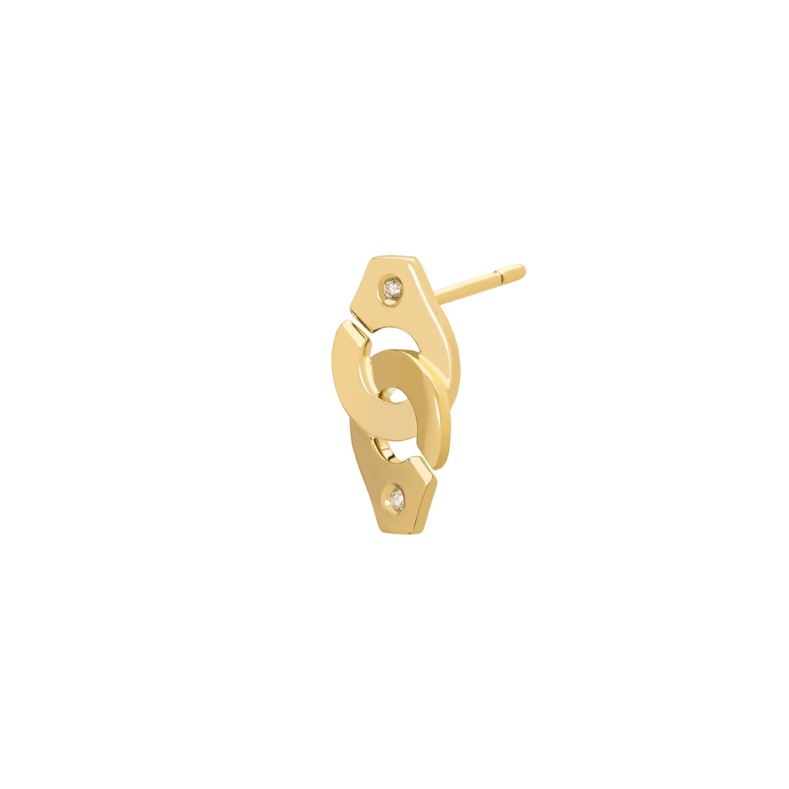 Dinh Van Menottes R8 Earring - Yellow Gold - Earrings - Broken English Jewelry