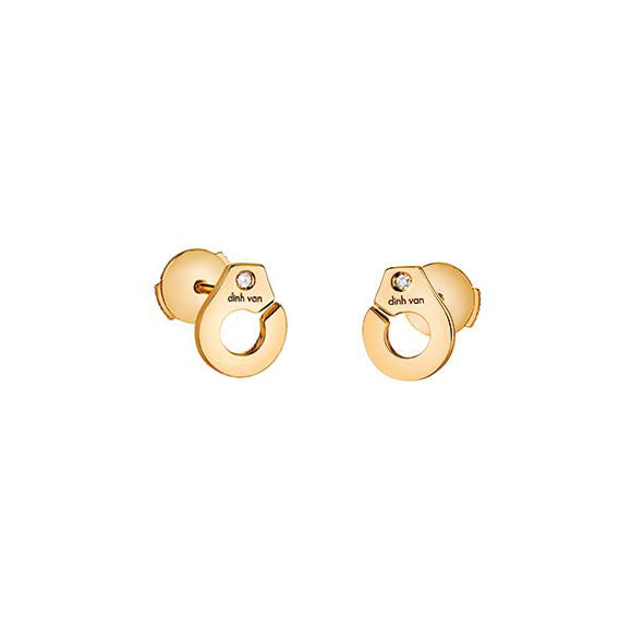 Menottes R7.5 Stud Earrings - Dinh Van - Earrings | Broken English Jewelry