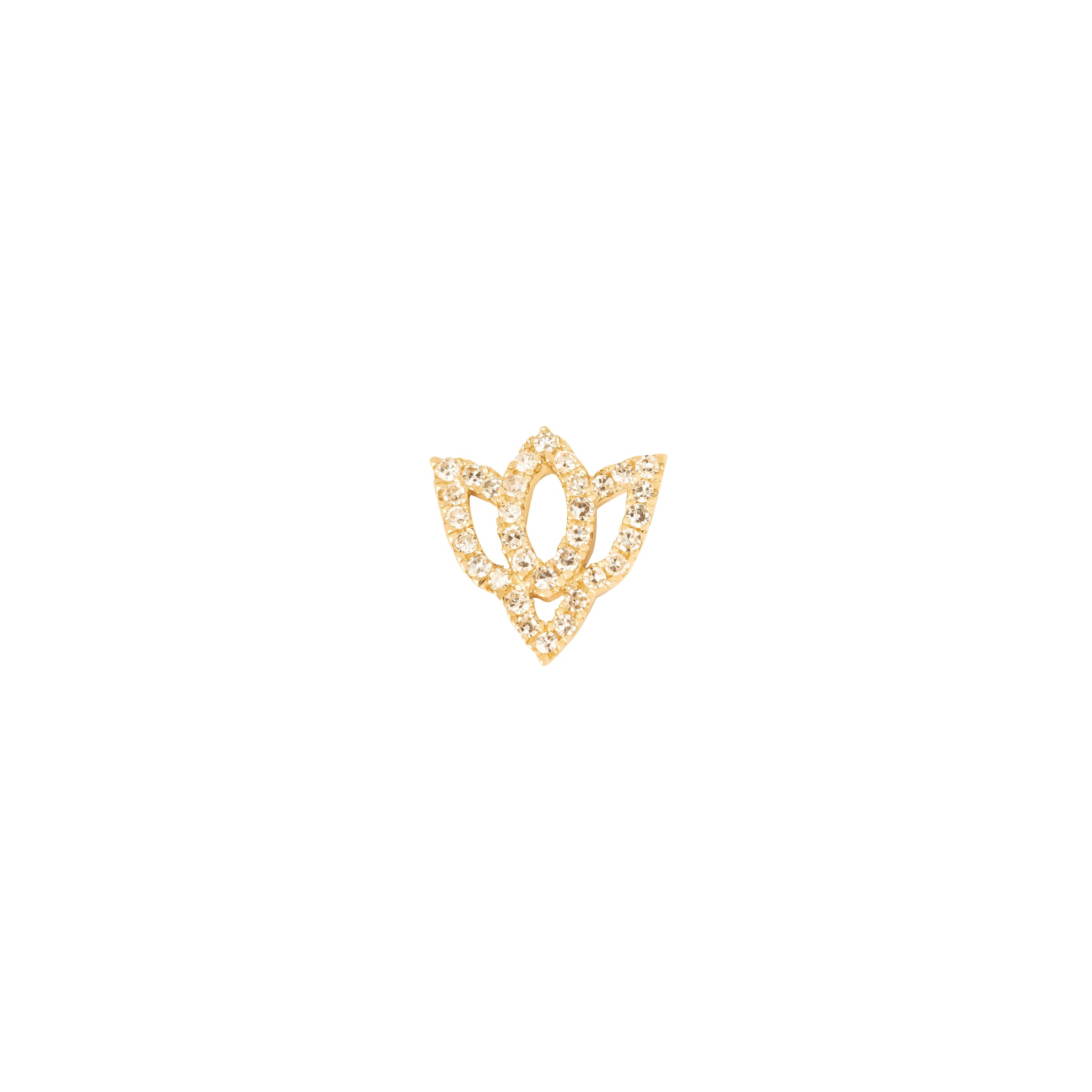 Loquet Lotus Flower Charm - Charms & Pendants - Broken English Jewelry