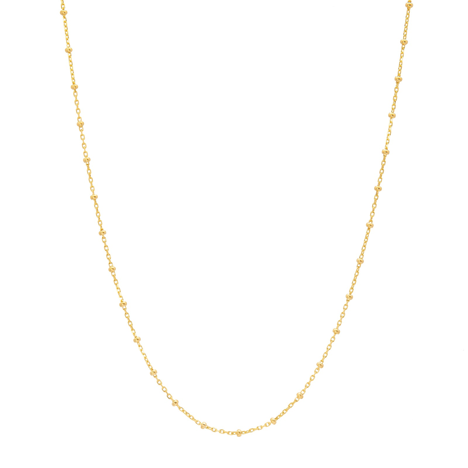 "Loquet 32"" Sphere Chain - Gold - Necklaces - Broken English Jewelry"