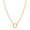 "Foundrae Medium Belcher Chain with Chubby Annex - 15"" - Necklaces - Broken English Jewelry"