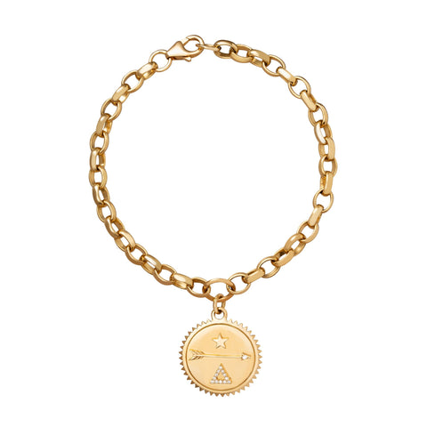 Dream Medallion Chain Bracelet - Foundrae - Bracelets | Broken English Jewelry