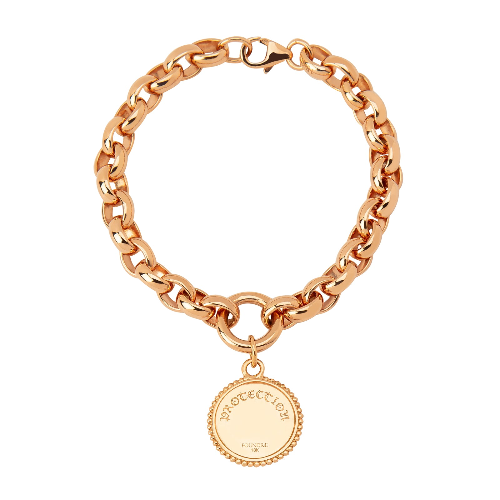 Foundrae Oversized Rose Gold Belcher Bracelet - Protection - Bracelets - Broken English Jewelry