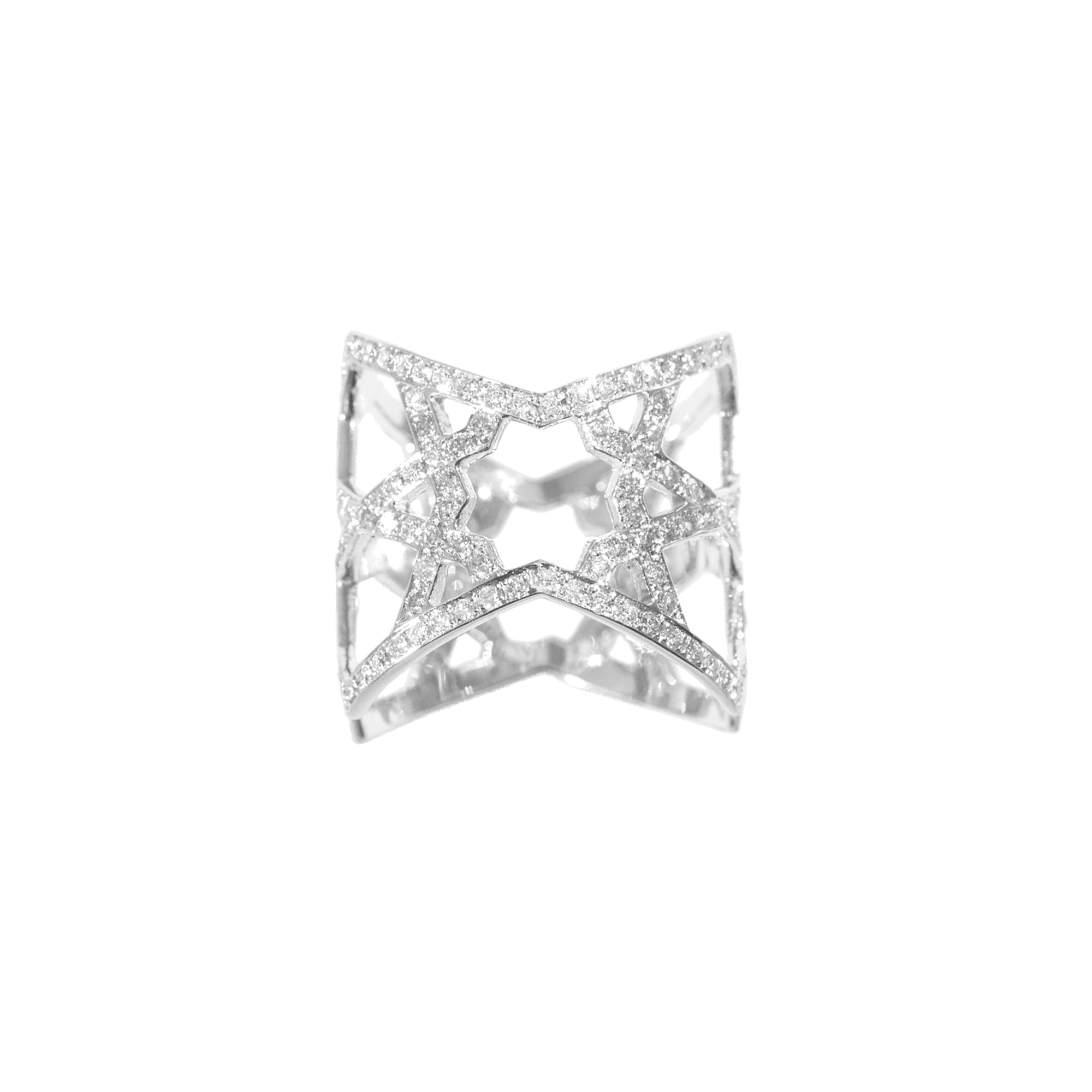 Ralph Masri Arabesque Deco Ring - White Gold - Rings - Broken English Jewelry