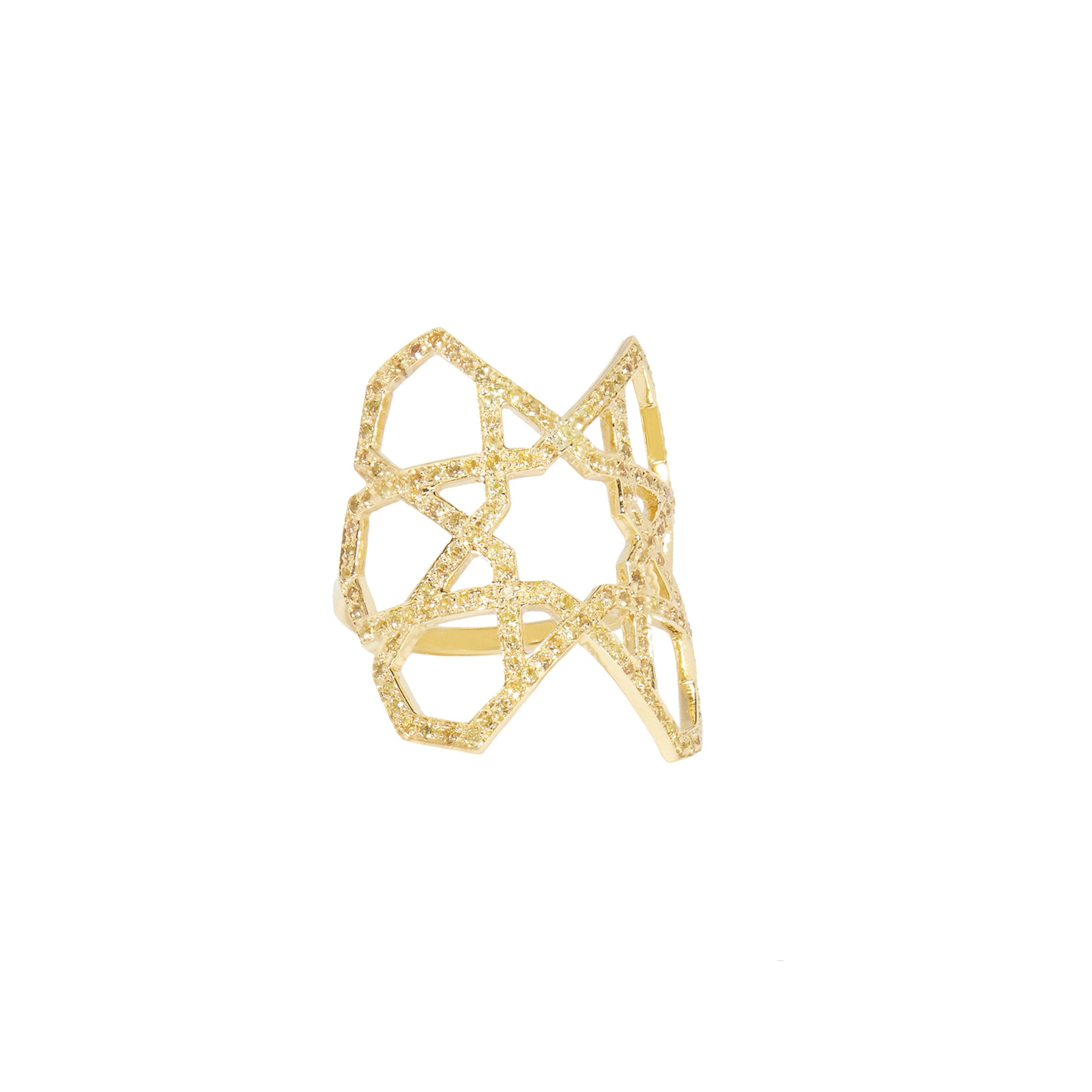 Ralph Masri Arabesque Deco Ring - Yellow Gold - Rings - Broken English Jewelry