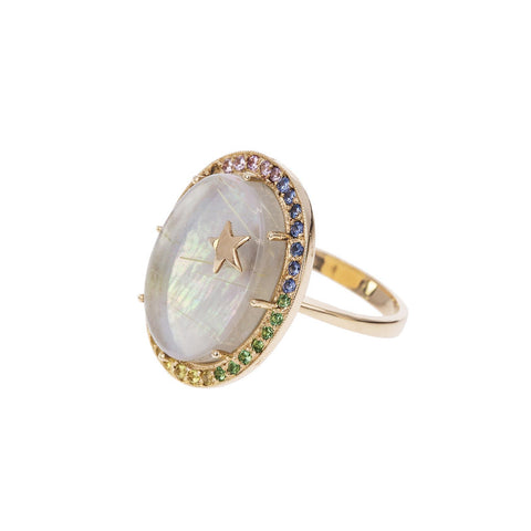 Mother of Pearl Zenith Ring - Andrea Fohrman - Ring | Broken English Jewelry