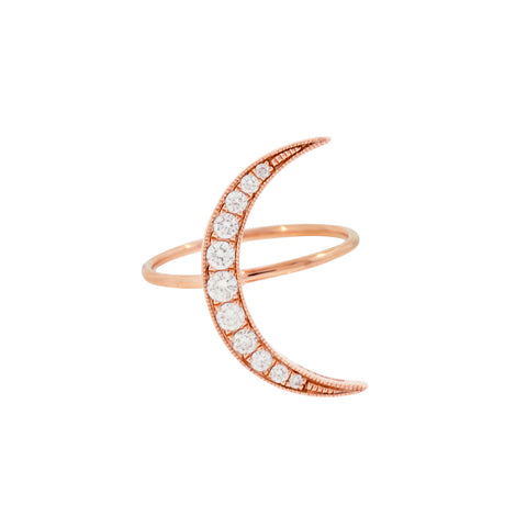 Medium Diamond Luna Ring - Andrea Fohrman - Rings | Broken English Jewelry