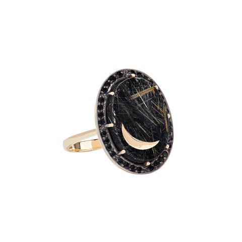 Black Onyx Nova Ring - Andrea Fohrman - Rings | Broken English Jewelry