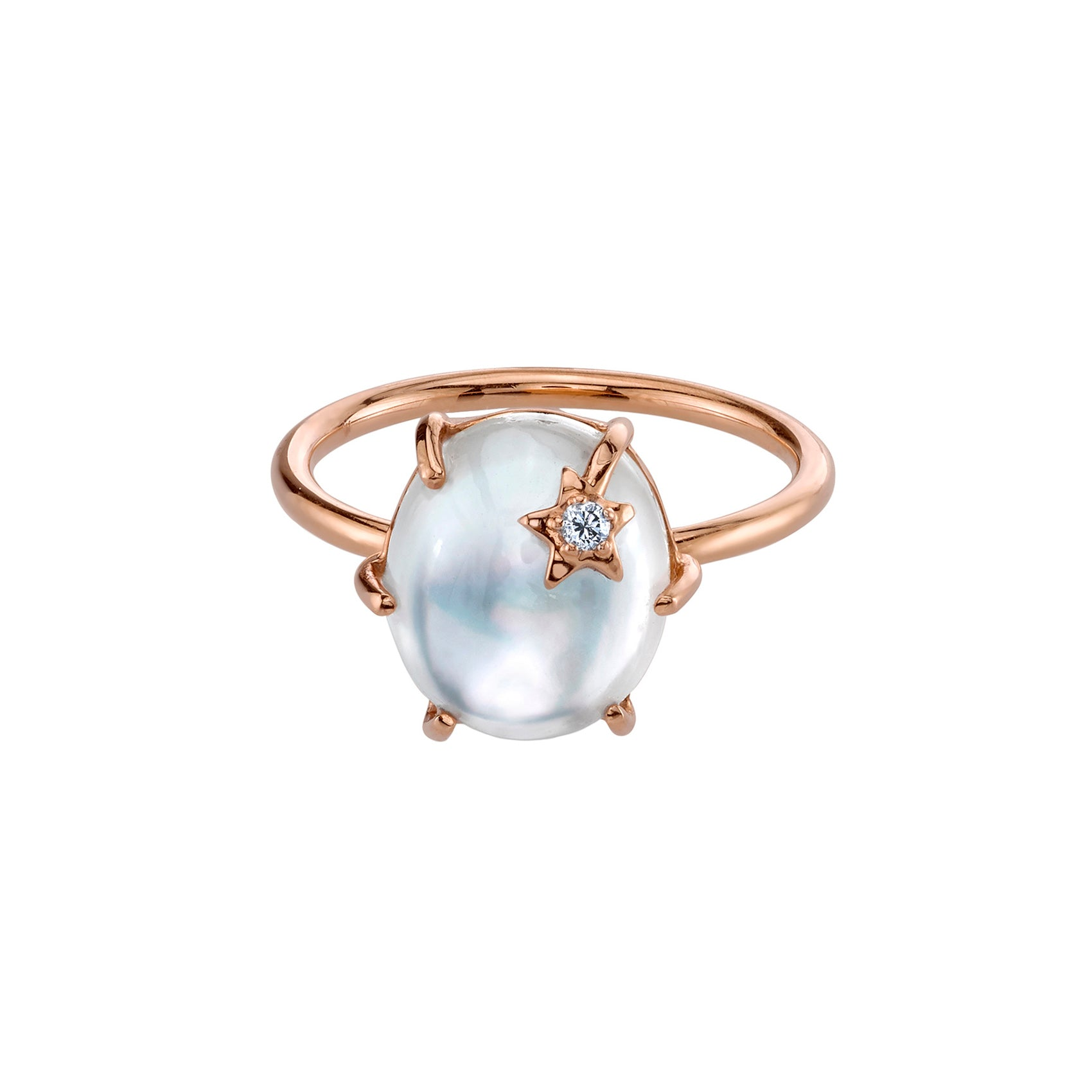Mini Galaxy Mother of Pearl Ring - Andrea Fohrman - Rings | Broken English Jewelry