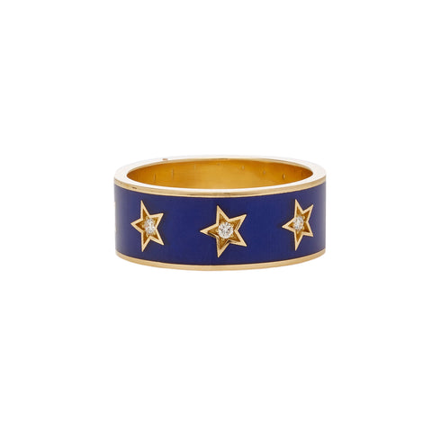 Thick Star Enamel Band - Andrea Fohrman - Rings | Broken English Jewelry