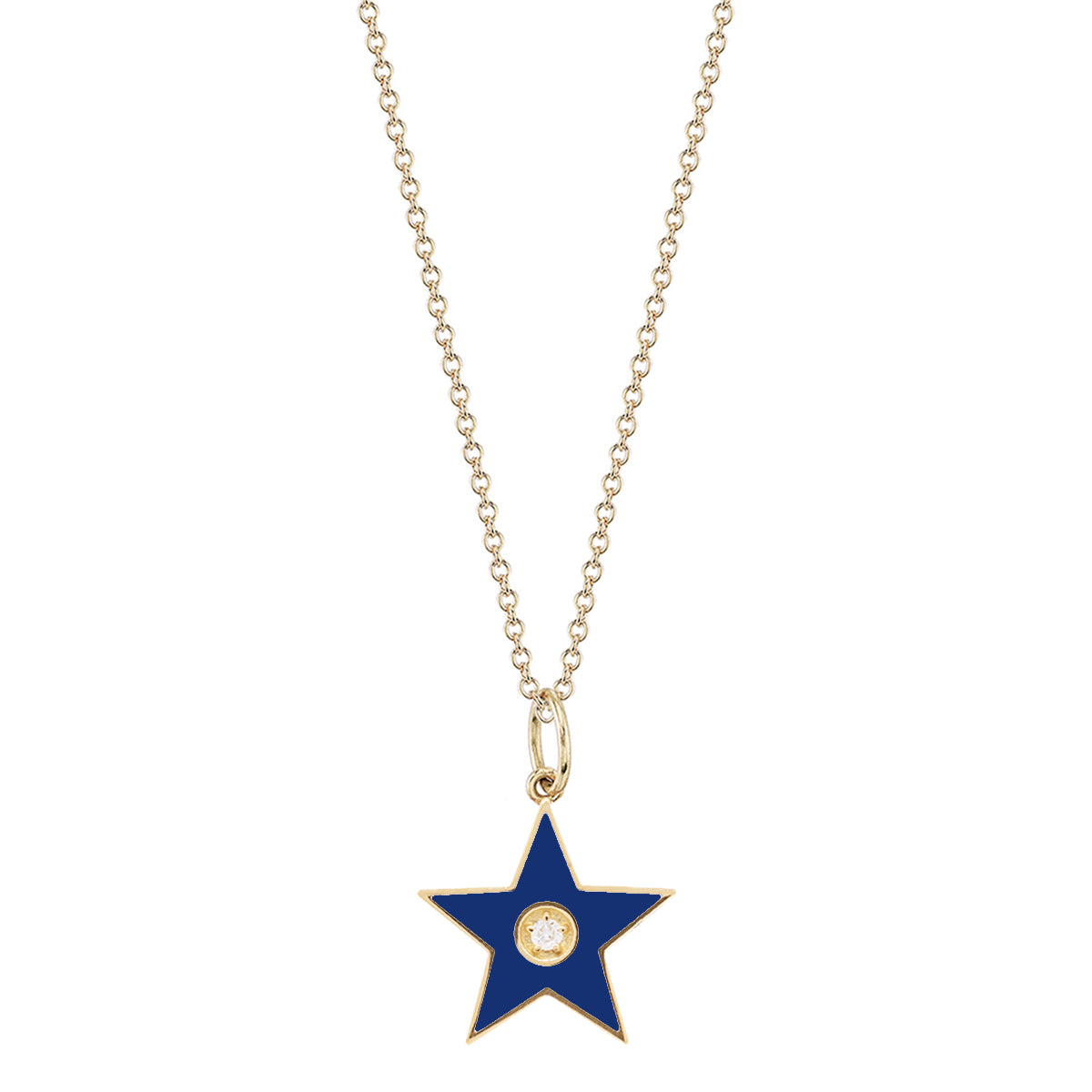 Blue Star Pendant Necklace - Andrea Fohrman - Necklace | Broken English Jewelry