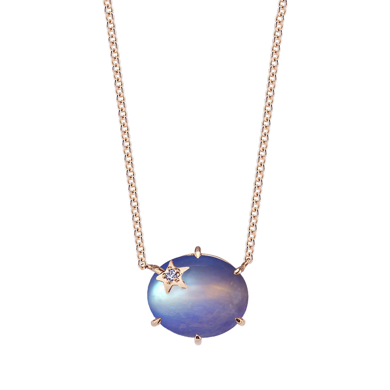 Mini Galaxy Moonstone Necklace - Andrea Fohrman - Necklaces | Broken English Jewelry