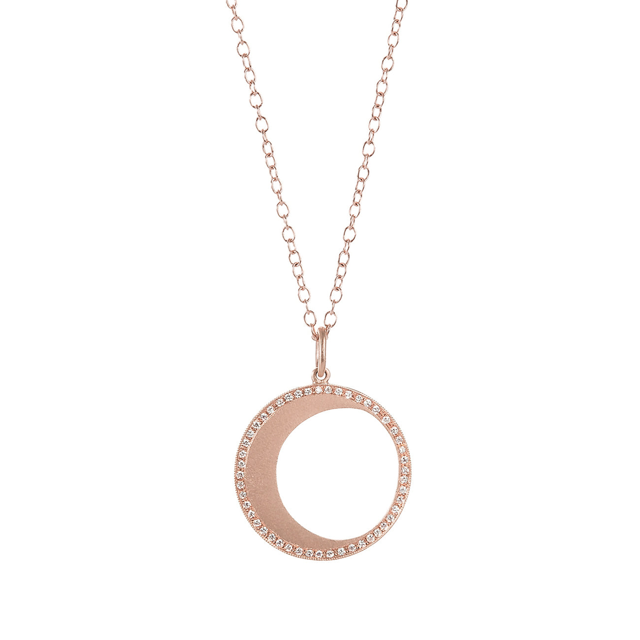 Large Sliver Moon Phase Necklace - Andrea Fohrman - Necklaces | Broken English Jewelry
