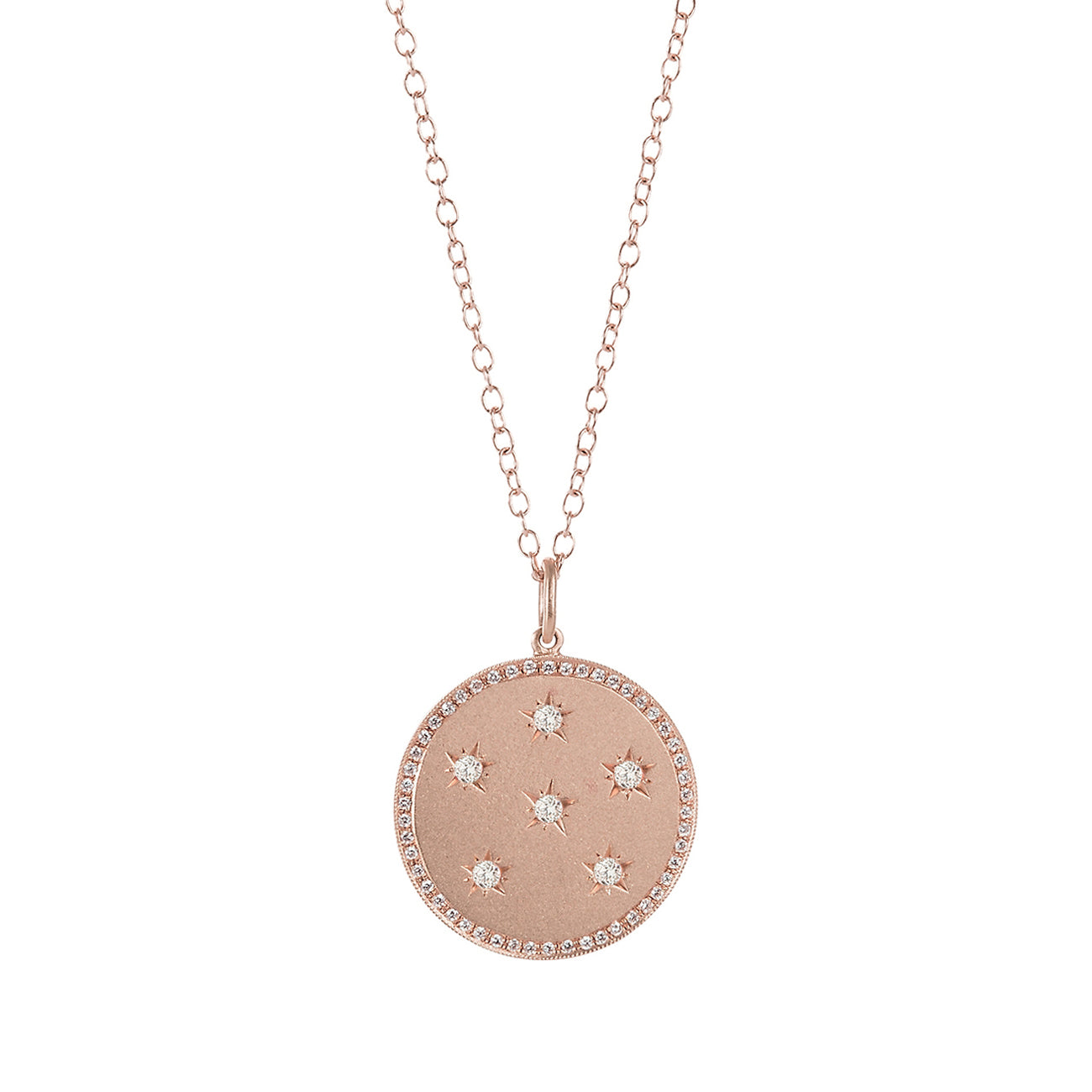Large Diamond Full Moon Necklace - Andrea Fohrman - Necklaces | Broken English Jewelry
