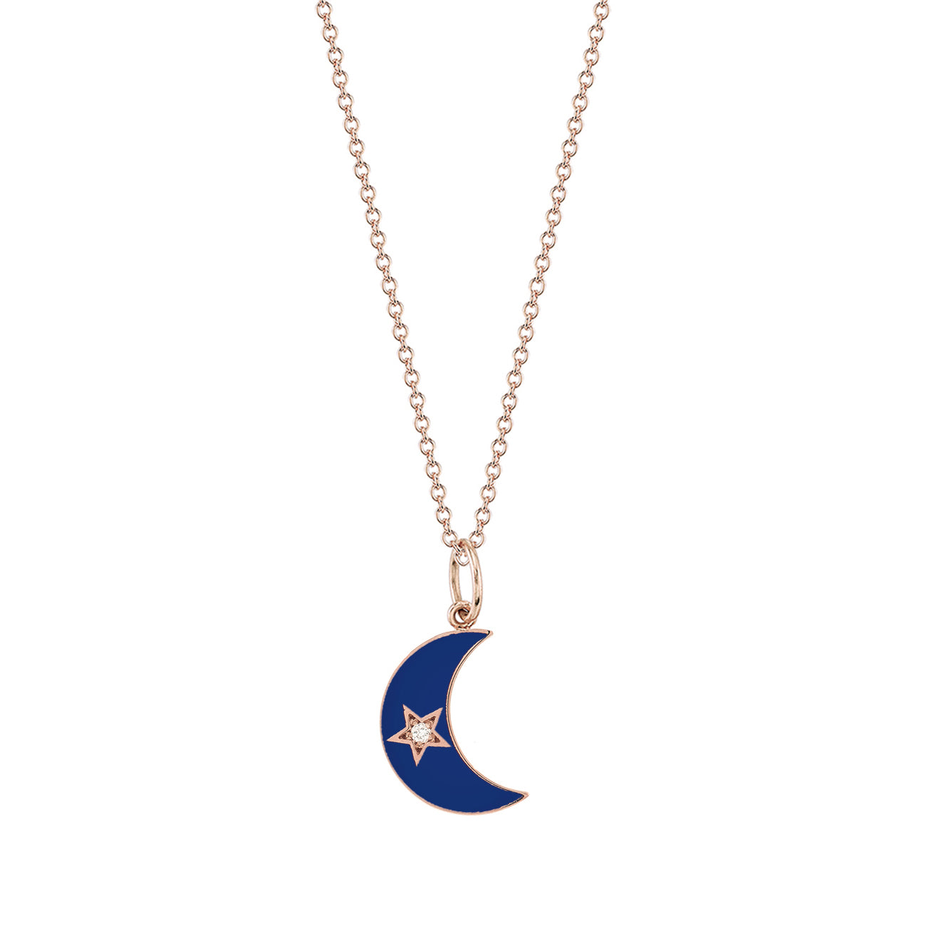 Enamel Crescent Star Moon Necklace - Andrea Fohrman - Necklaces | Broken English Jewelry