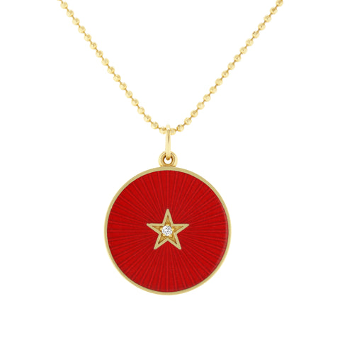 Red Full Moon Necklace - Andrea Fohrman - Necklaces | Broken English Jewelry