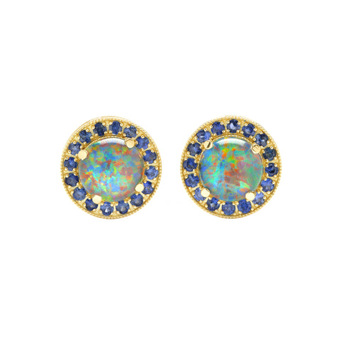 Australian Opal Studs - Andrea Fohrman - Earrings | Broken English Jewelry