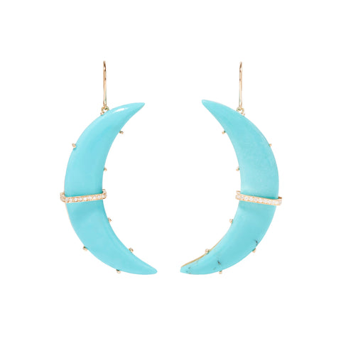 Large Turquoise Astrid Earrings - Andrea Fohrman - Earrings | Broken English Jewelry