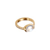 Gold White Diamond Rainbow Moonstone Pasha Ring by Anahita for Broken English Jewelry